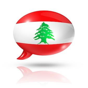 Bocadillo de diálogo de la bandera libanesa