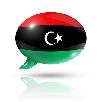 Bocadillo de diálogo de la bandera libia