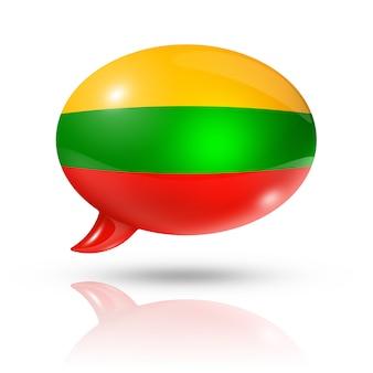Bocadillo de diálogo de la bandera lituana