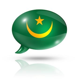 Bocadillo de diálogo de la bandera de mauritania