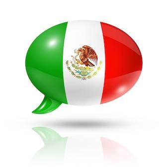 Bocadillo de diálogo de bandera mexicana