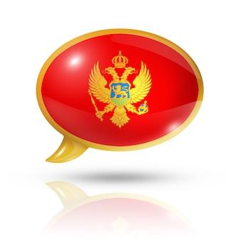 Bocadillo de diálogo de la bandera de montenegro