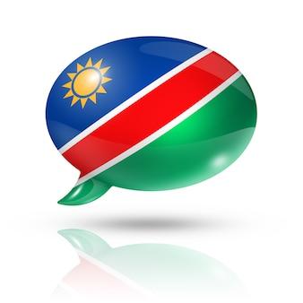 Bocadillo de diálogo de la bandera de namibia