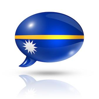 Bocadillo de diálogo de la bandera de nauru