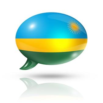 Bocadillo de diálogo de la bandera de ruanda