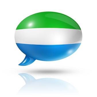 Bocadillo de diálogo de la bandera de sierra leona
