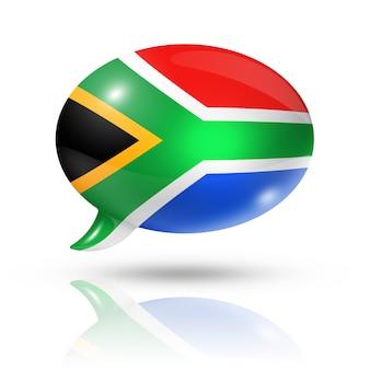Bocadillo de diálogo de la bandera sudafricana