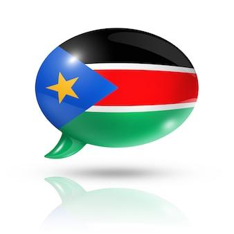 Bocadillo de diálogo de la bandera de sudán del sur