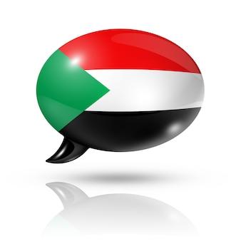 Bocadillo de diálogo de la bandera sudanesa