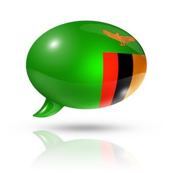 Bocadillo de diálogo de la bandera de zambia