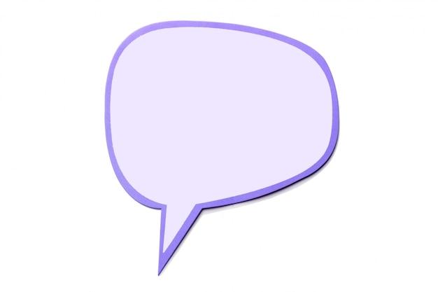 Bocadillo de diálogo como una nube con borde rosa aislado en blanco