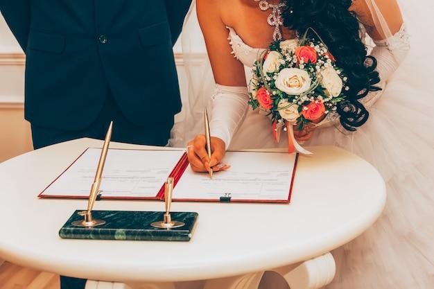 Boda, registro de matrimonio