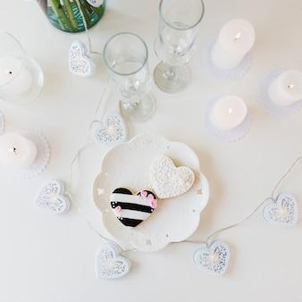 Bodegón de boda con cristales
