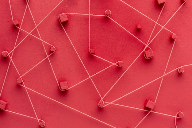 Bodegón de concepto de redes