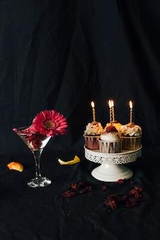 Bodegón de cupcake
