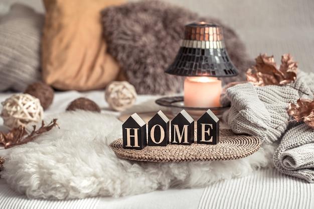 Bodegón decoración del hogar en un hogar acogedor.