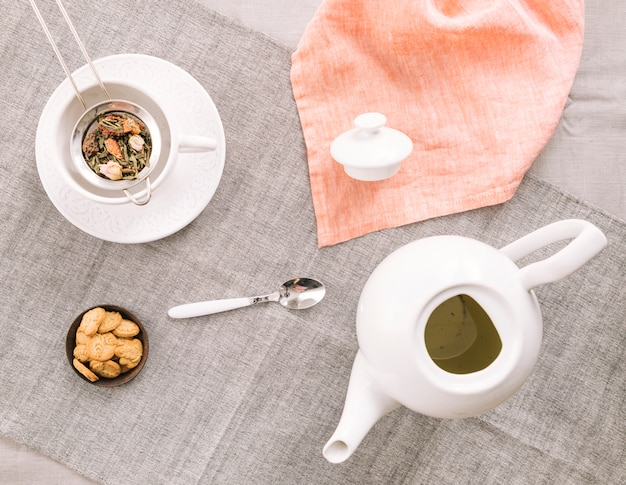 Bodegón decorativo de té