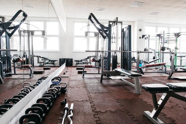 Bodegón de equipamiento de gimnasio