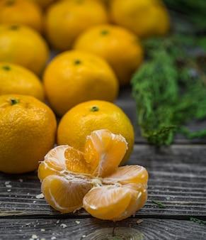 Bodegón con mandarinas