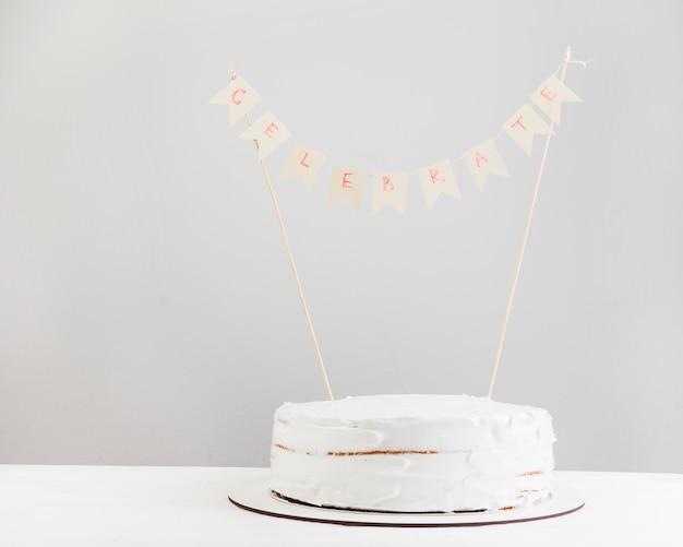 Bodegón de tarta de cumpleaños