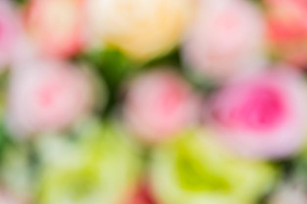 Bokeh abstracto y fondo blanco y rosado borroso de la naturaleza