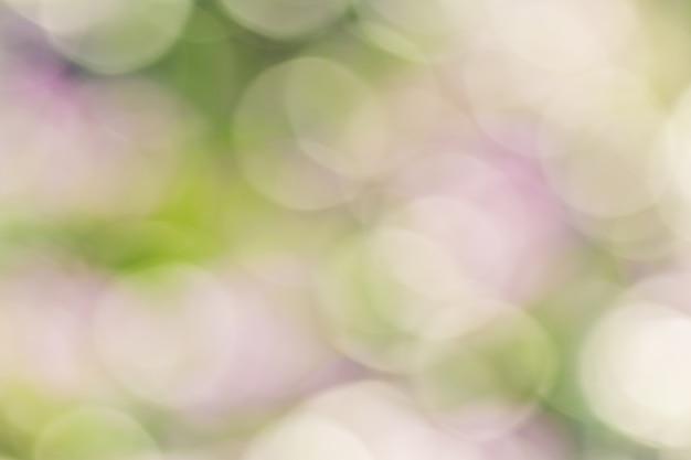 Bokeh abstracto y fondo de naturaleza colorida borrosa