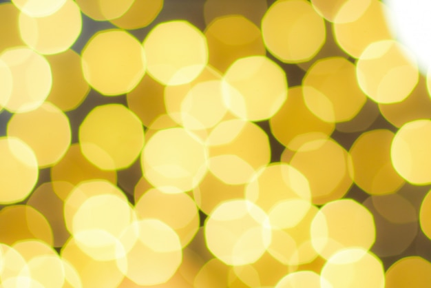 Bokeh luz amarilla de celebración, bokeh luz de navidad