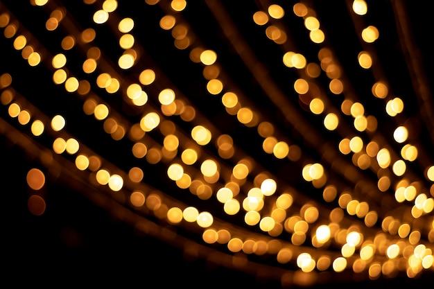 Bokeh de oro texturas y reflejos