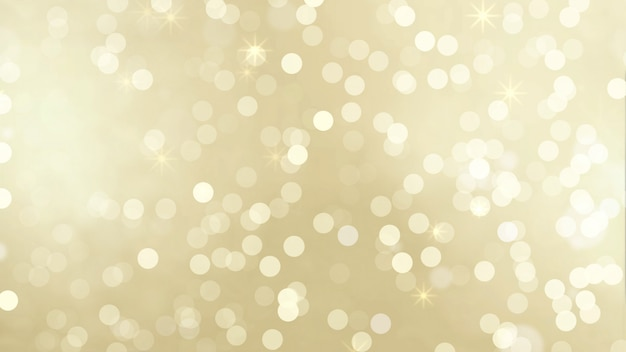 Bokeh de partículas de oro