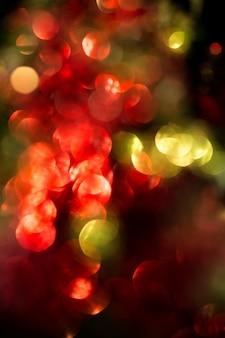 Bokeh rojo y verde celebridades de navidad