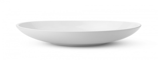 Bol de cerámica blanca