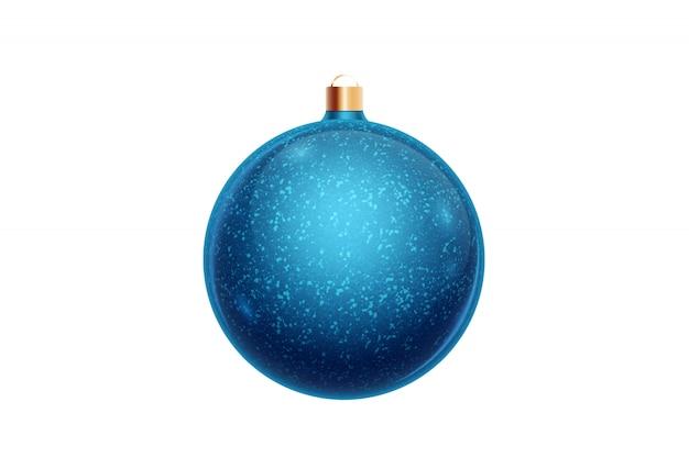 Bola de navidad azul aislado sobre fondo blanco. adornos navideños, adornos en el árbol de navidad.