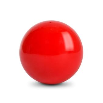 Bola roja, bola de billar en el fondo blanco