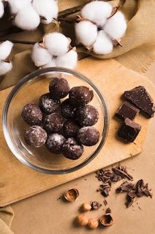 Bolas de chocolate