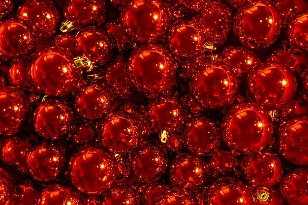 Bolas rojas de navidad