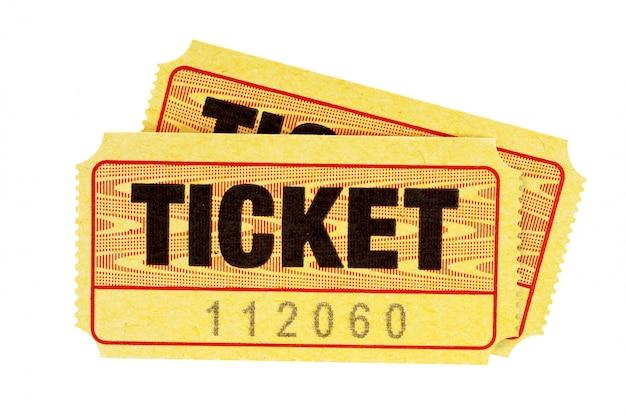 Boletos de admisión amarillos