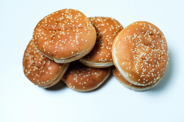 Los bollos de hamburguesa