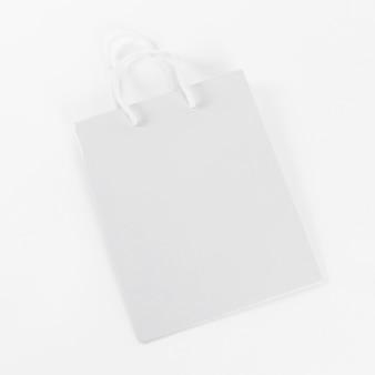 Bolsa de compras de papel blanco de alta vista