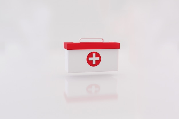 Bolsa de kit de primeros auxilios para servicios de emergencia.