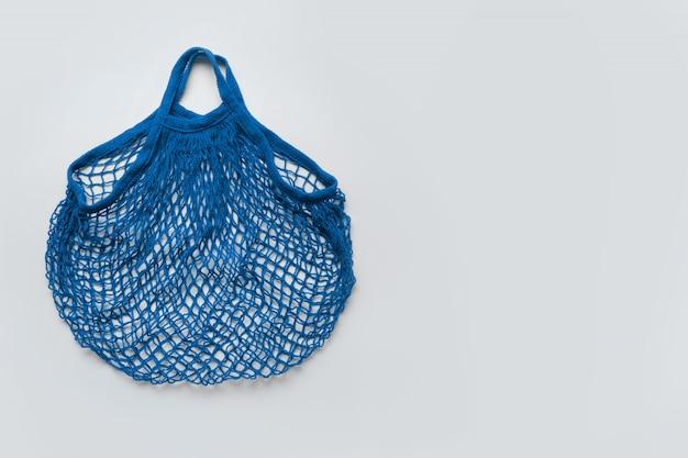 Bolsa de malla azul vacía