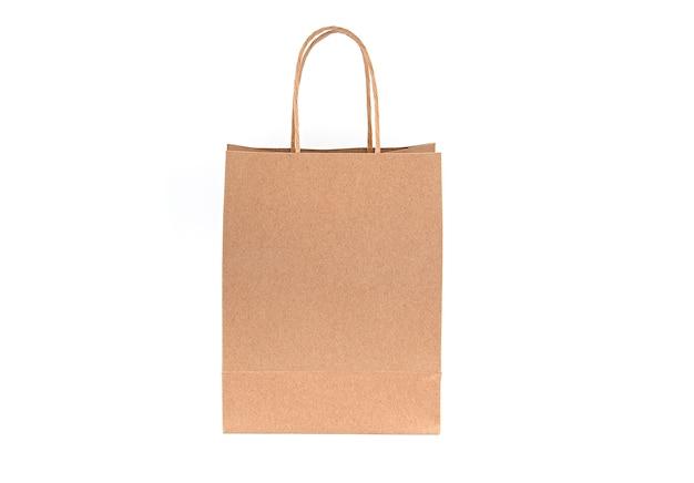 Bolsa de papel, bolsa vacía, mango aislado