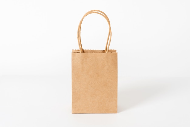 Bolsa de papel marrón promocional