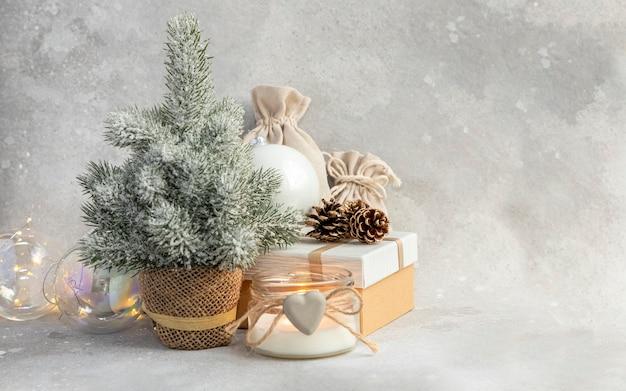 Bolsa de regalo de caja de regalo de guirnalda de velas de juguetes de navidad de árbol de navidad