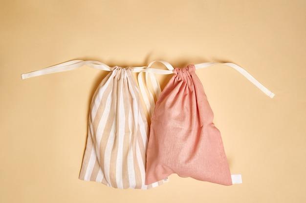 Bolsa de tela de lona del mercado.
