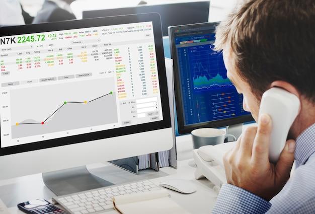 Bolsa de valores de forex finance concepto gráfico