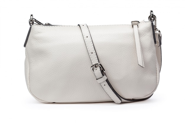 Bolso de mano femenino de moda en blanco