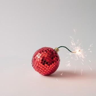 Bomba de fusible de decoración de árbol de navidad.