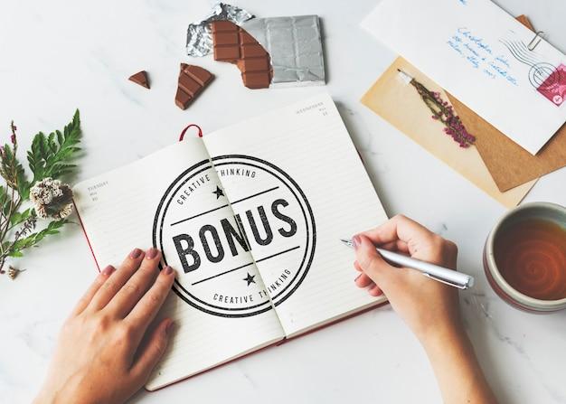 Bonificación concepto de recompensa de pago de incentivo adicional especial