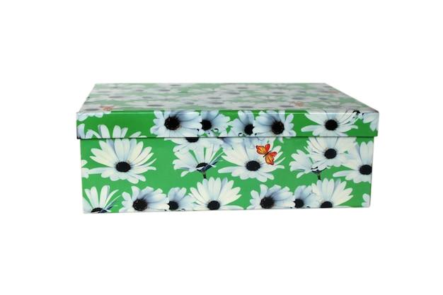 Bonita caja verde aislada
