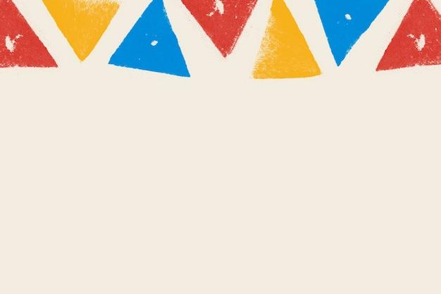 Borde de impresión de bloque de colores sobre fondo beige